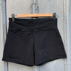Lululemon black drawstring shorts